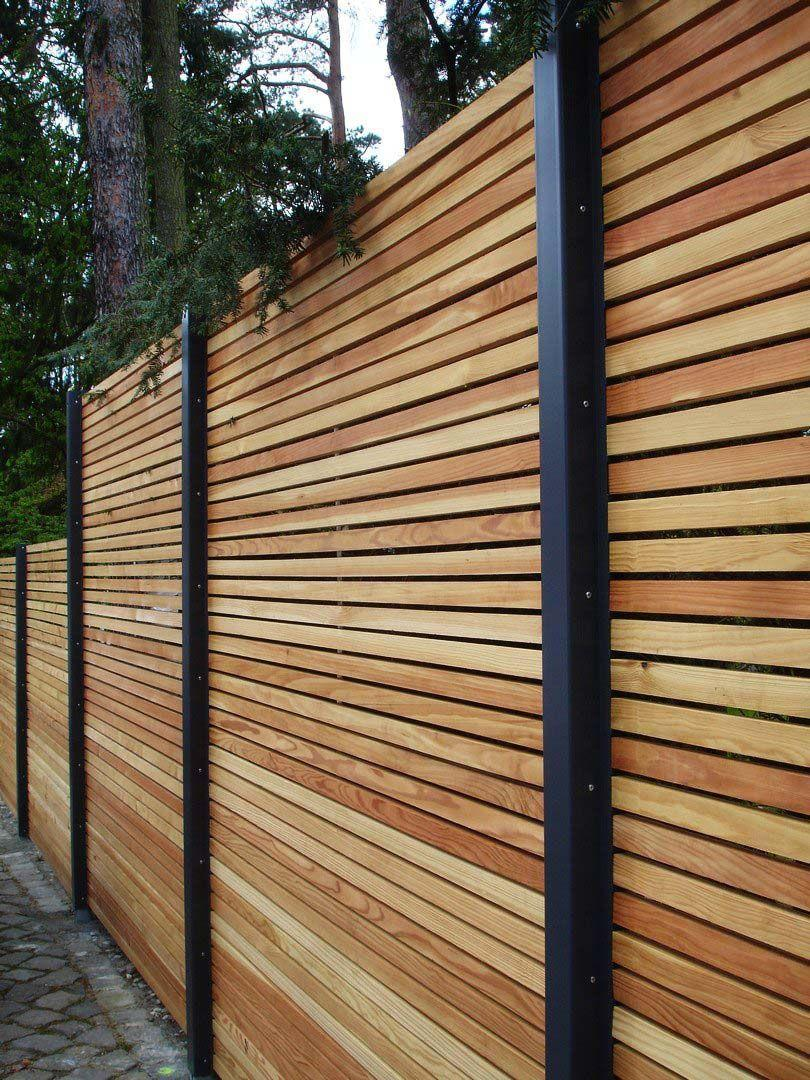 Anthrazit Sichtschutzzaun Holz 180×180