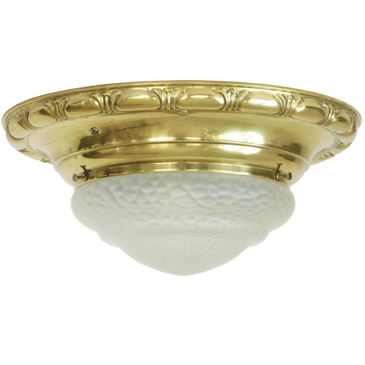 Antike Deckenlampe Messing