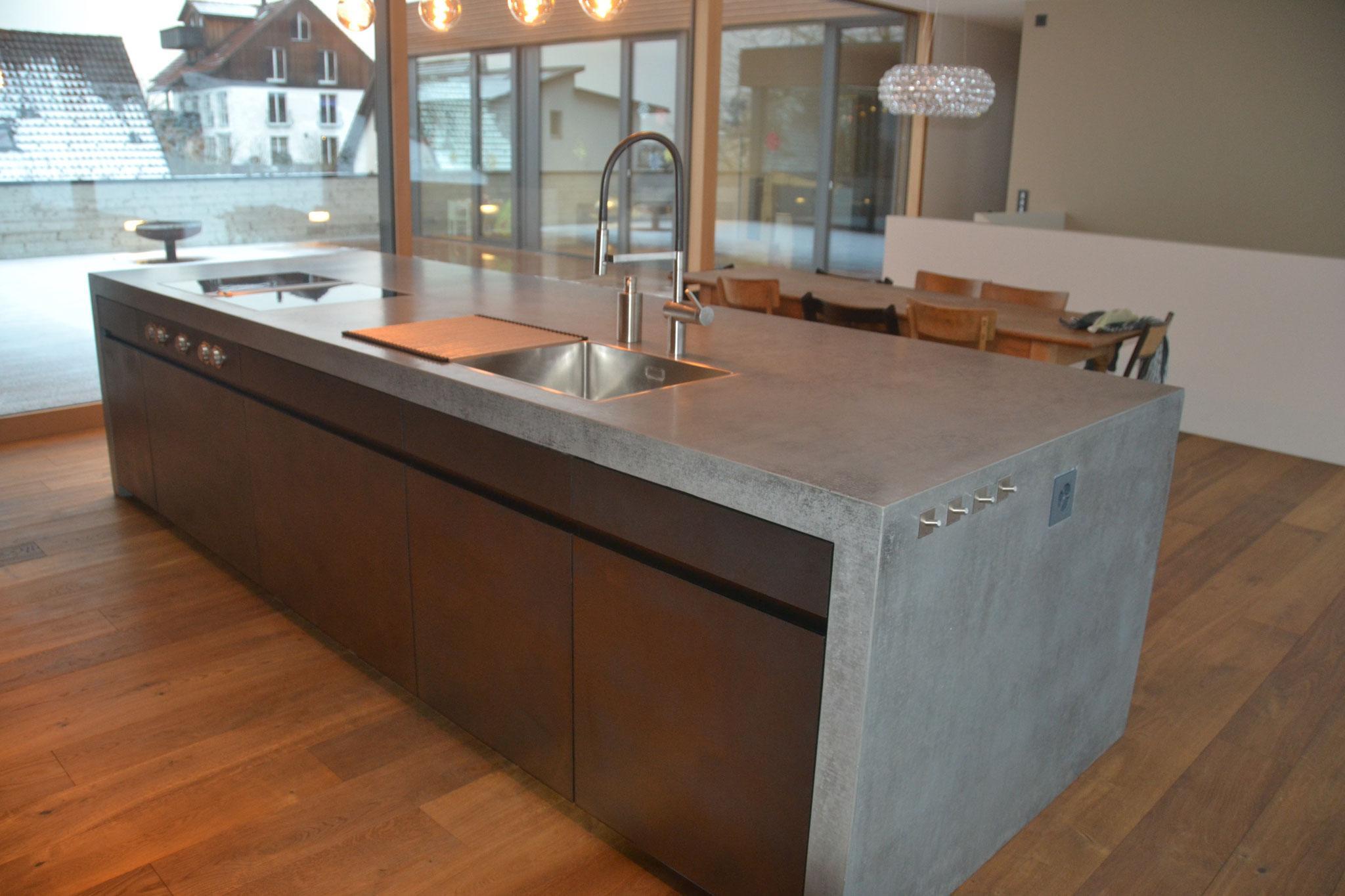 Arbeitsplatten Küche Betonoptik
