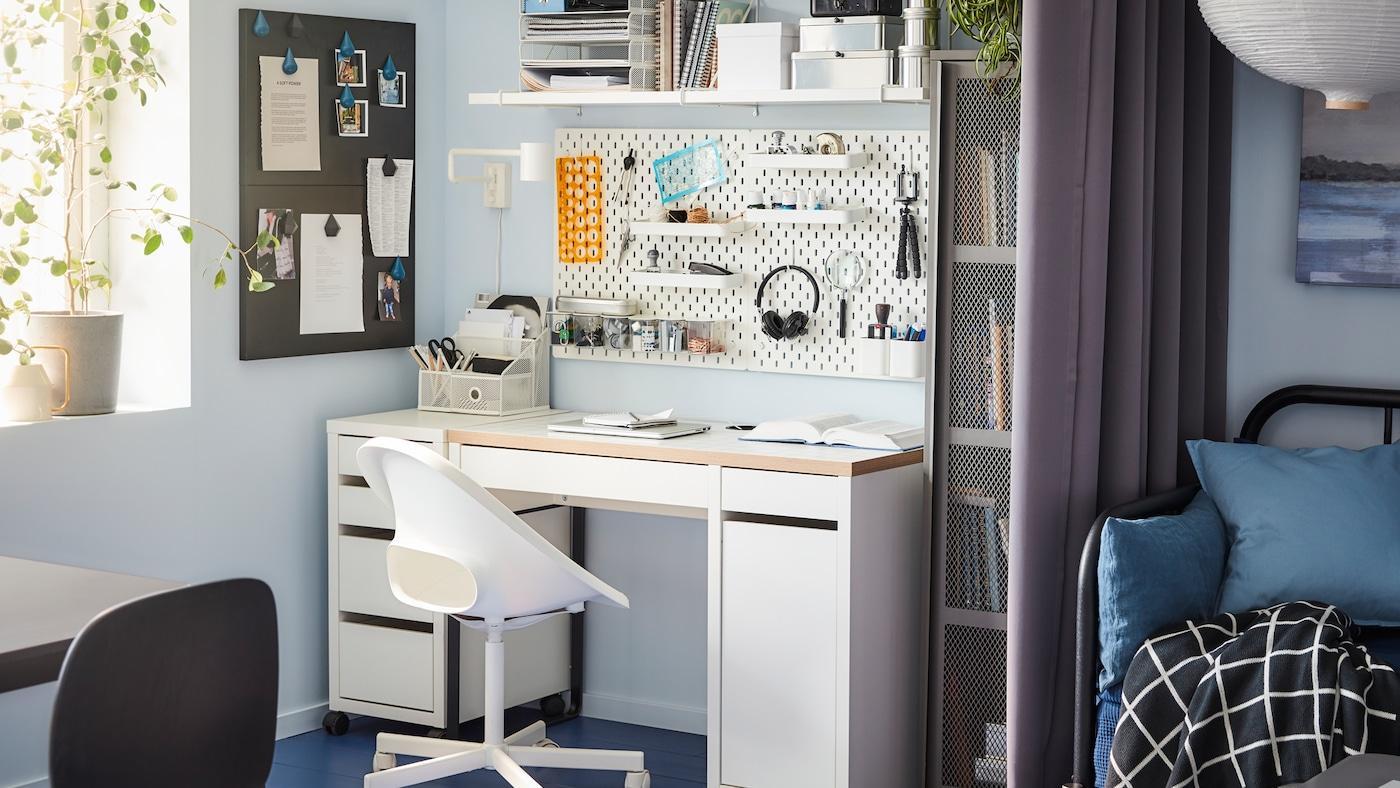 Arbeitszimmer Ikea Kallax Schreibtisch