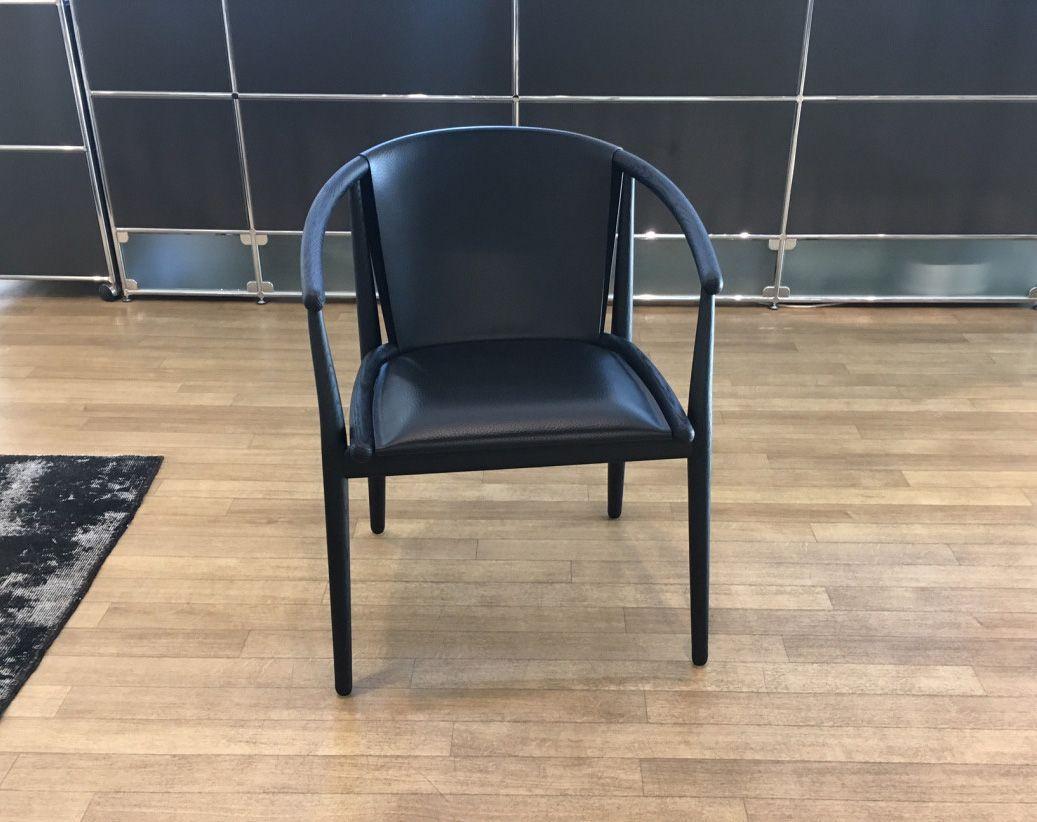 Armlehnstuhl Schwarz Holz