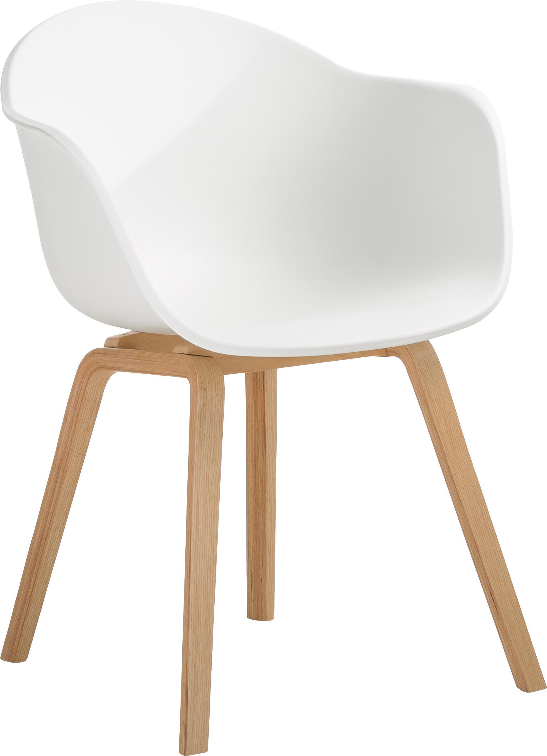 Armlehnstuhl Weiß Holz