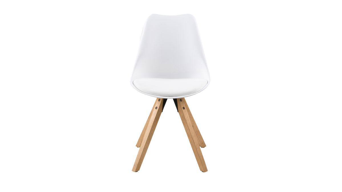 Armlehnstuhl Weiß Kunststoff