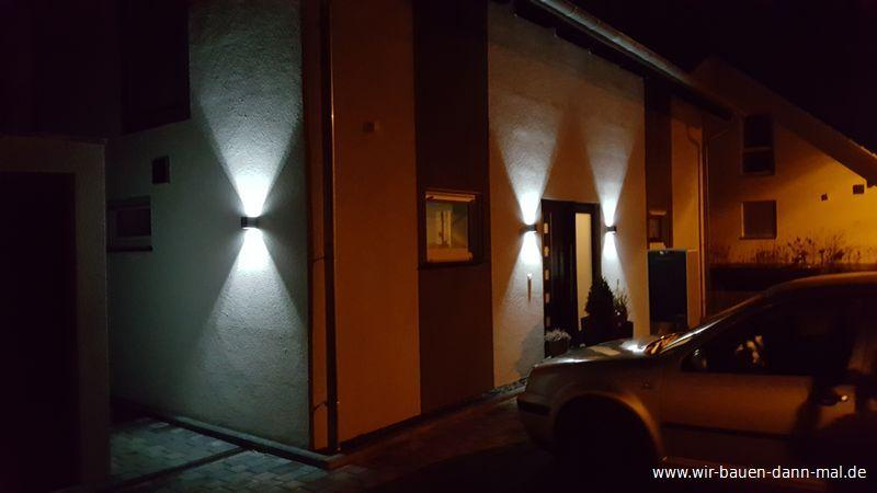 Außenbeleuchtung Hauswand Led