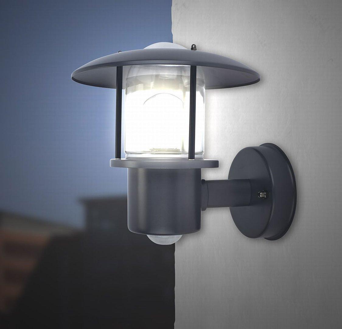 Außenlampe Bewegungsmelder Anthrazit