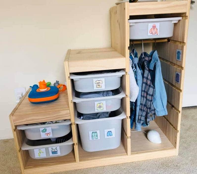 Baby Kleiderschrank Ordnung