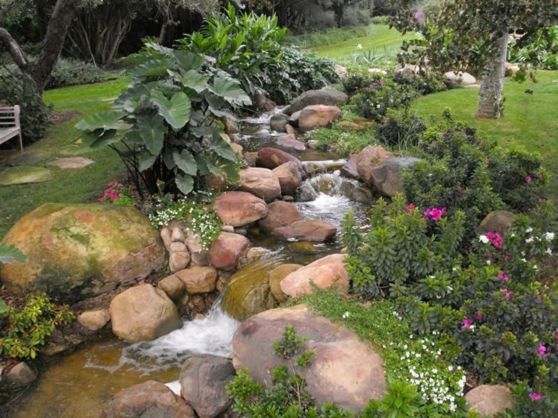 Bachlauf Gartenteich Ideen