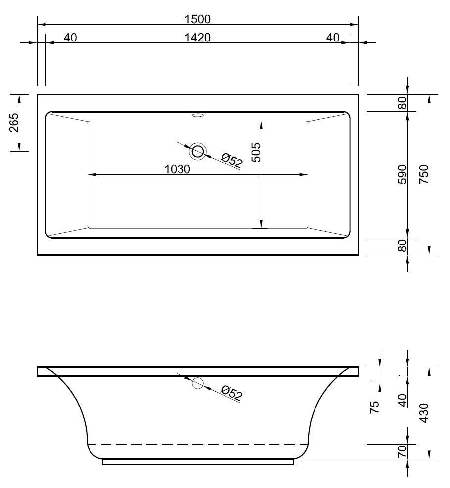 Badewanne Klein Maße