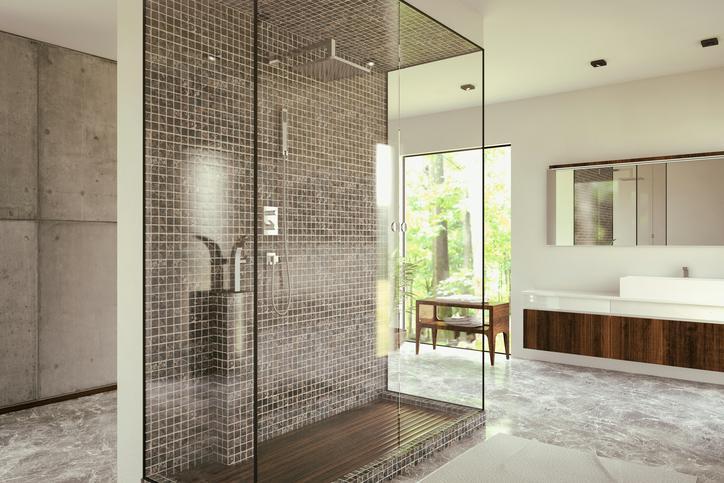 Badezimmer Begehbare Dusche Gemauert