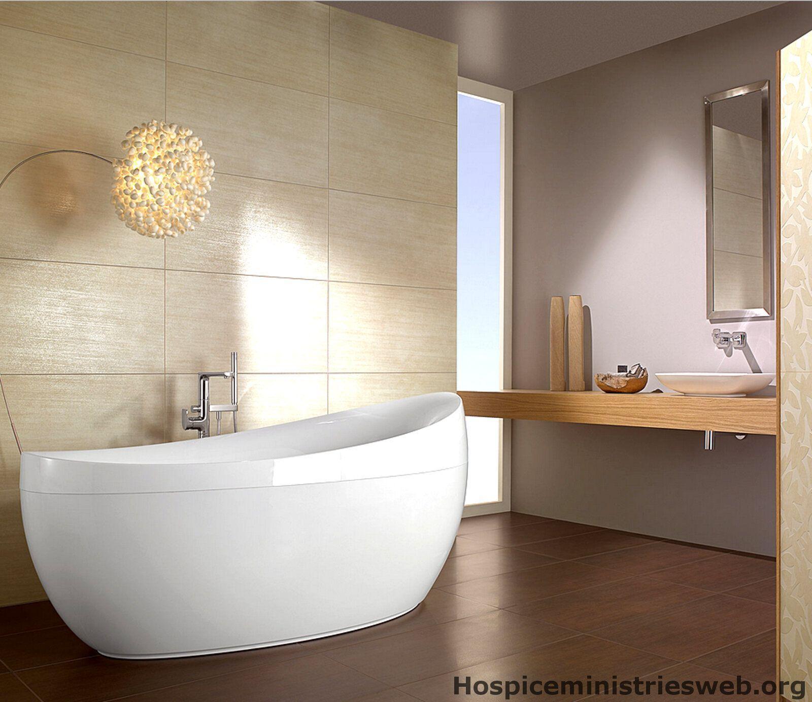 Badezimmer Braun Weiß Modern