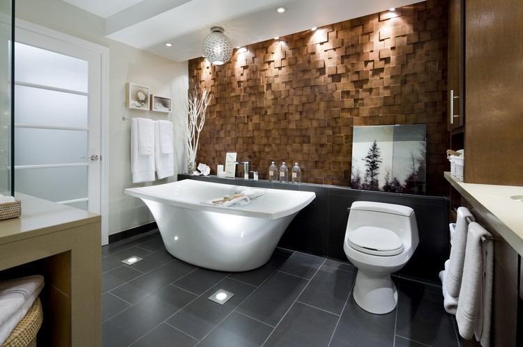 Badezimmer Deckenleuchte Holz
