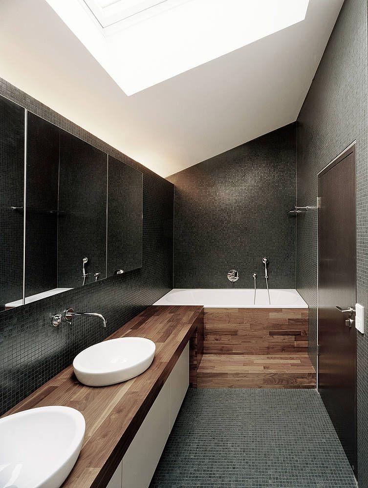 Badezimmer Dunkles Holz