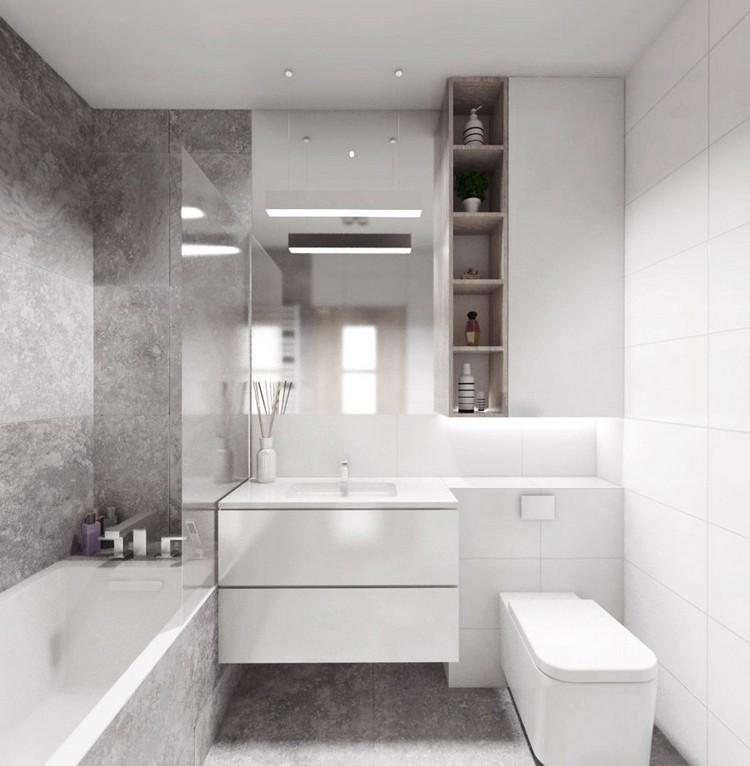 Badezimmer Dusche Und Badewanne