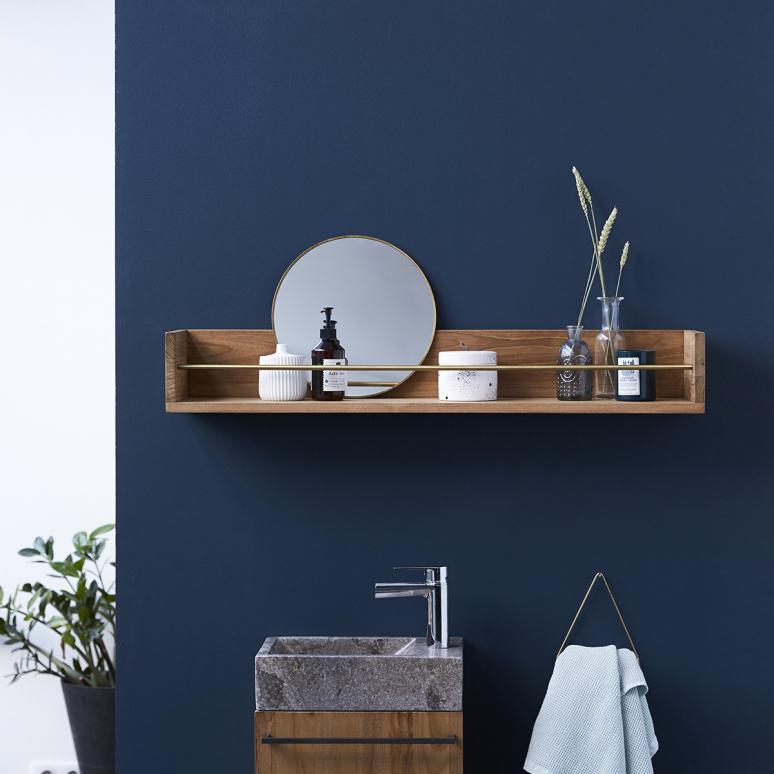 Badezimmer Hängeregal Holz