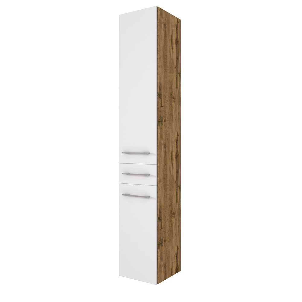 Badezimmer Hochschrank Weiß Holz