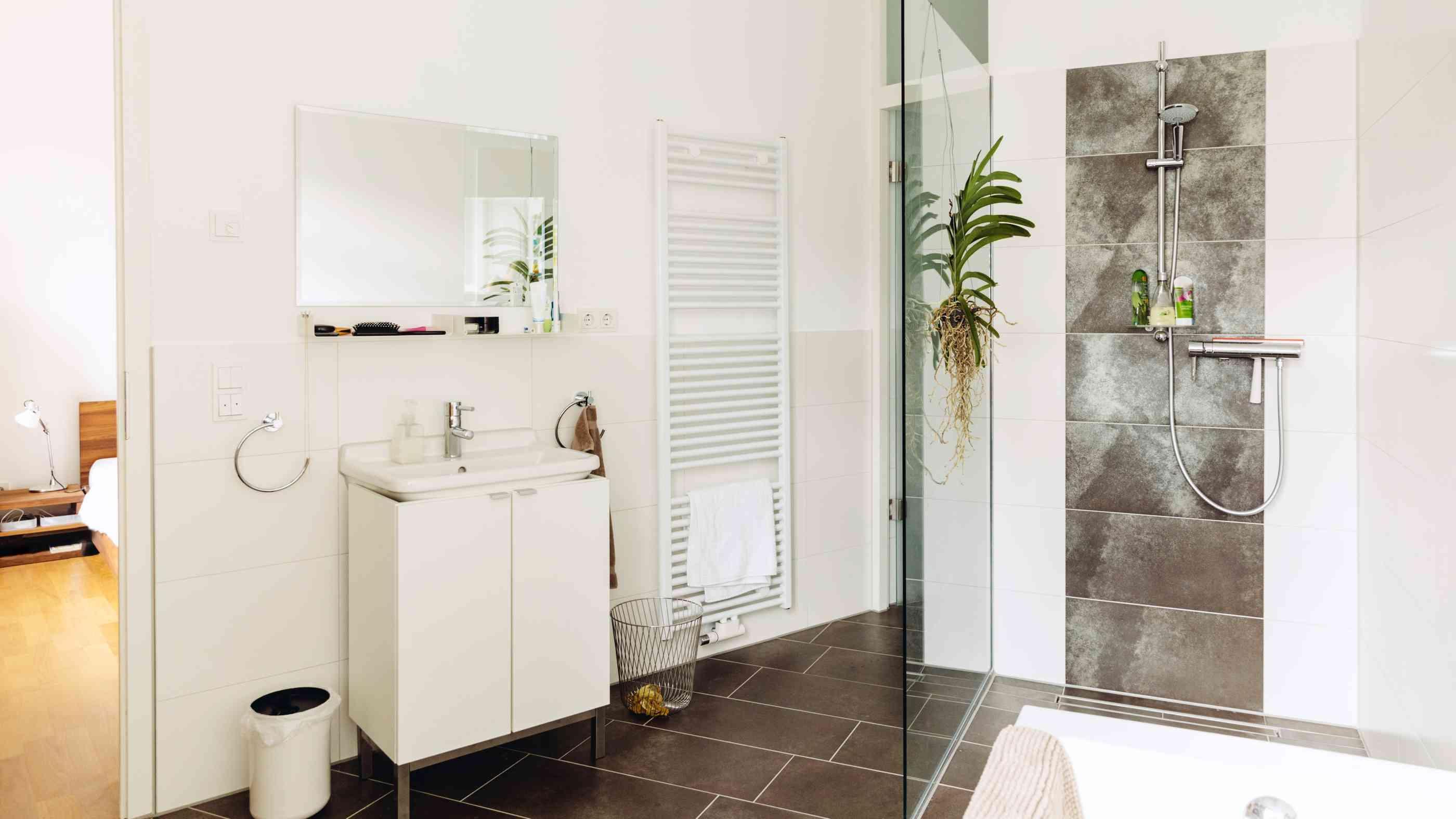 Badezimmer Holzoptik Boden