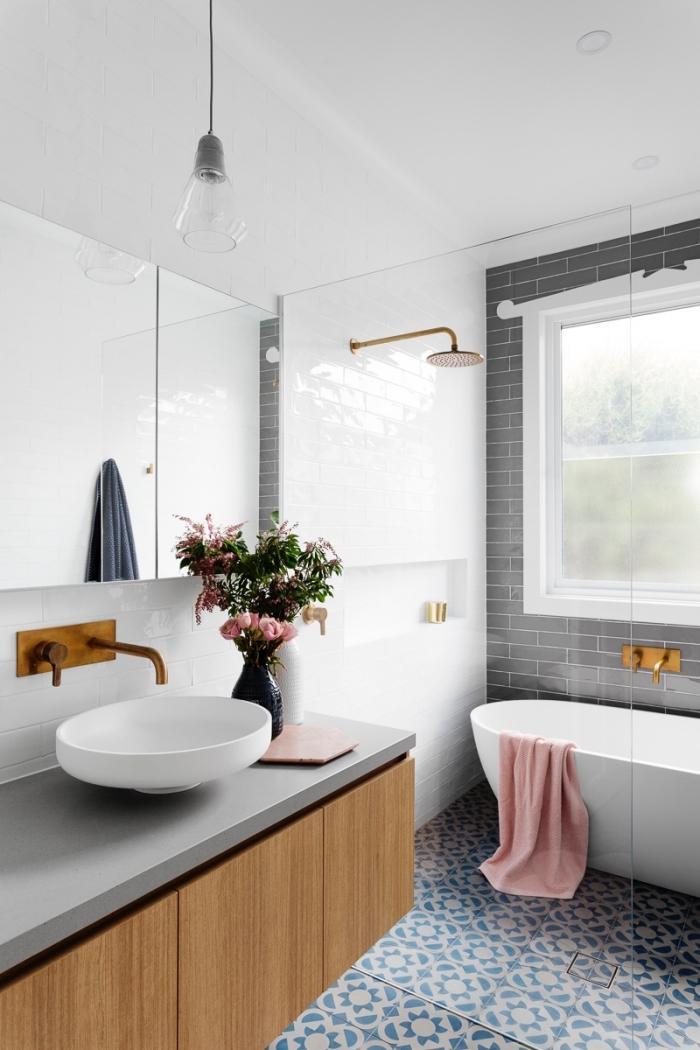 Badezimmer Holzoptik Schwarz