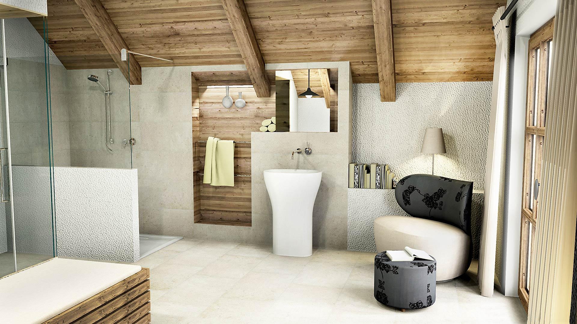 Badezimmer Landhaus Modern