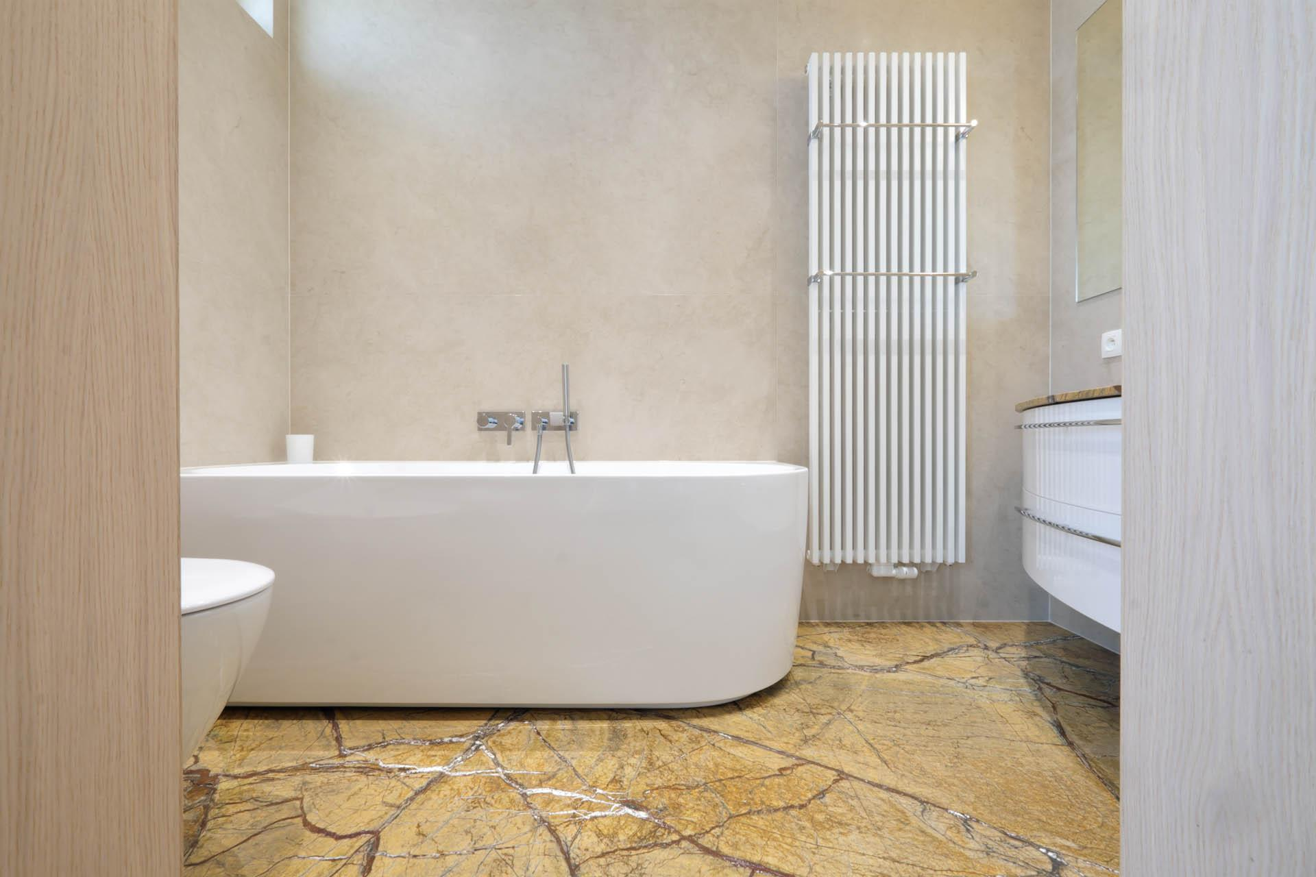Badezimmer Marmor Beige
