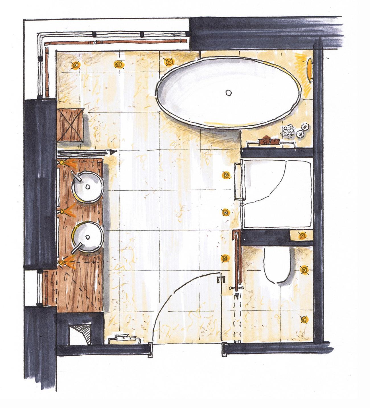 Badezimmer Mit Dachschräge Grundriss