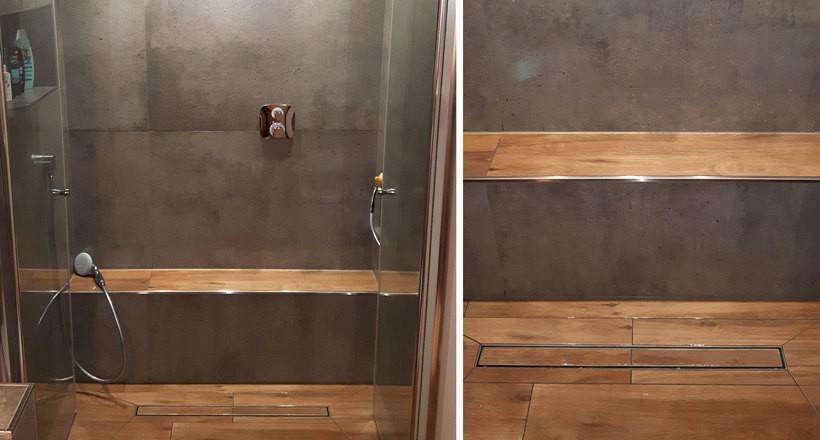 Badezimmer Mit Holzfliesenoptik