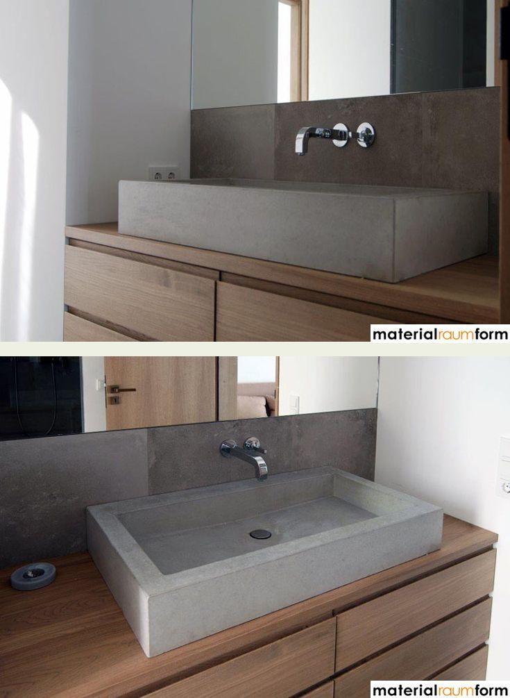Badezimmer Möbel Betonoptik