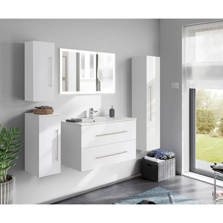 Badezimmer Set Grau Hochglanz