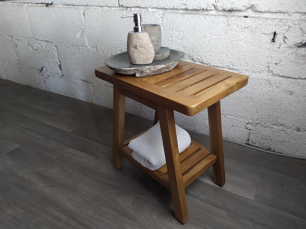 Badezimmer Sitzbank Holz