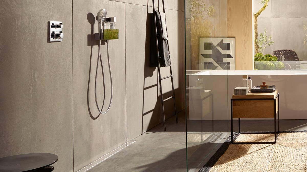 Badezimmer Wände In Betonoptik