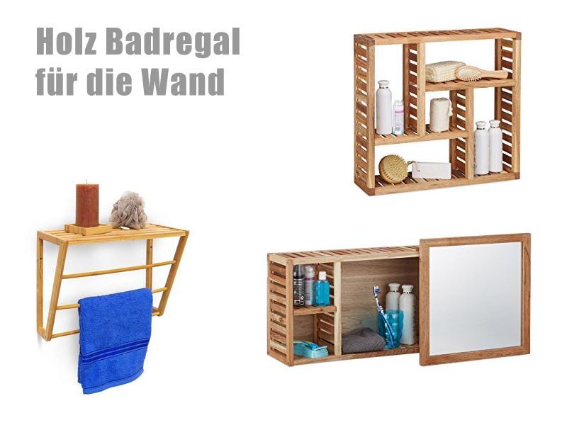Badezimmer Wandregal Holz