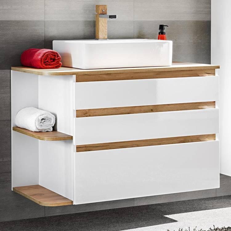 Badezimmer Waschtisch Weiß
