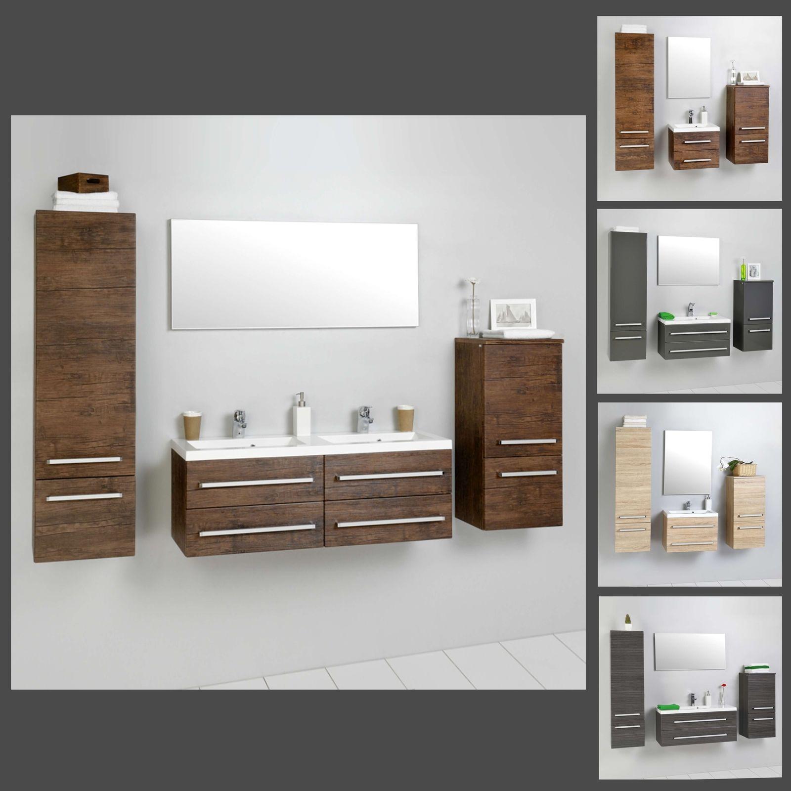 Badezimmermöbel Grau Holz