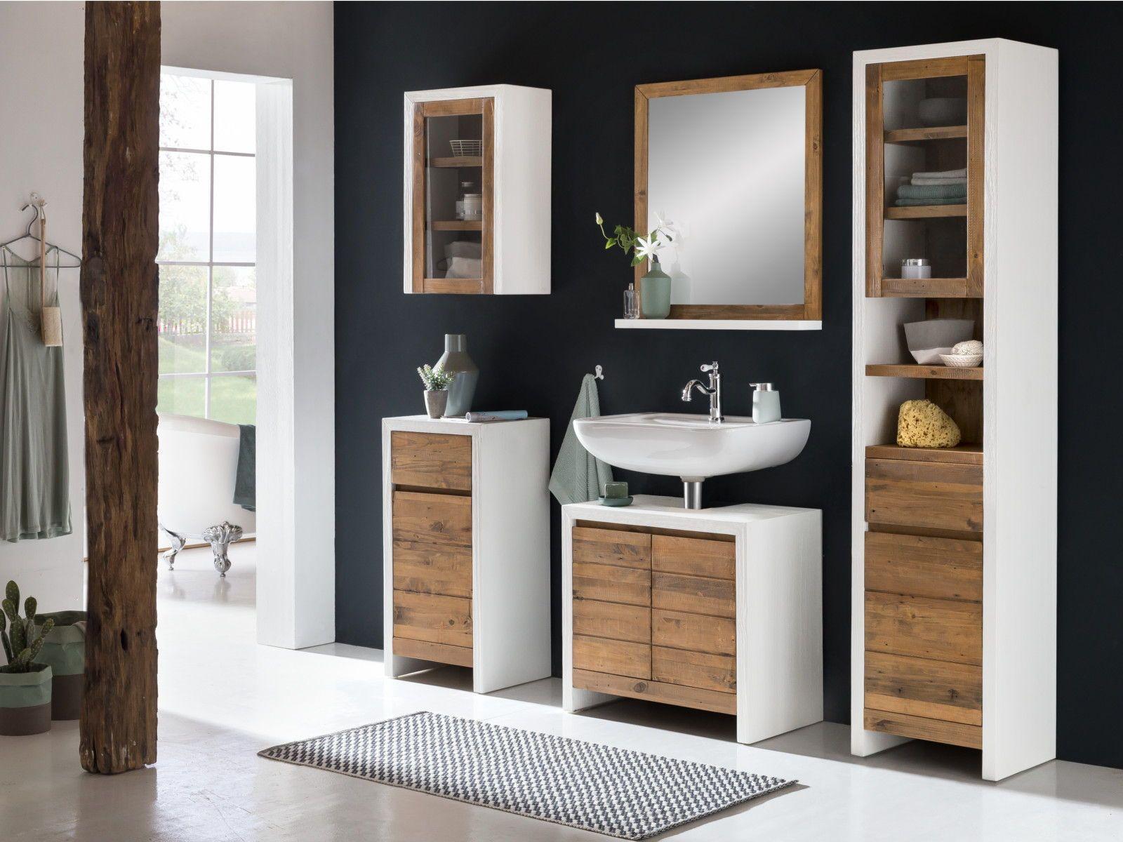Badezimmermöbel Weiß Holz