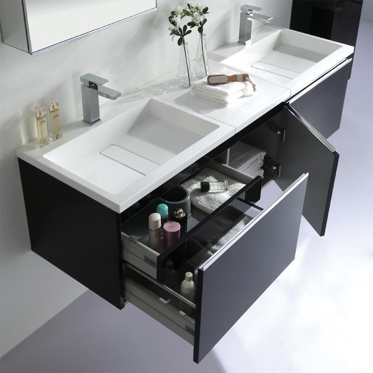 Badmöbel Set Mit 2 Aufsatzwaschbecken