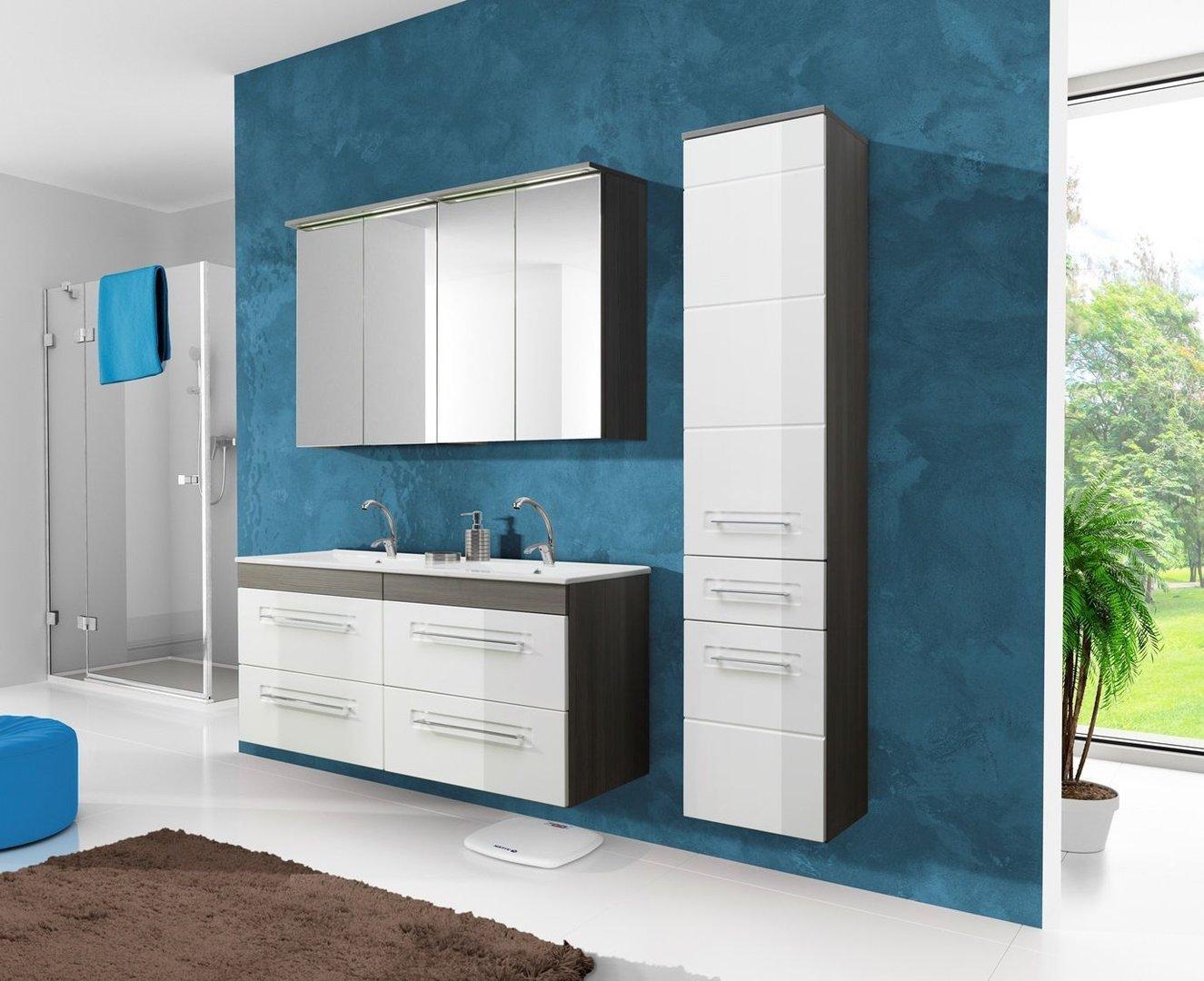 Badmöbel Set Mit Zwei Waschbecken