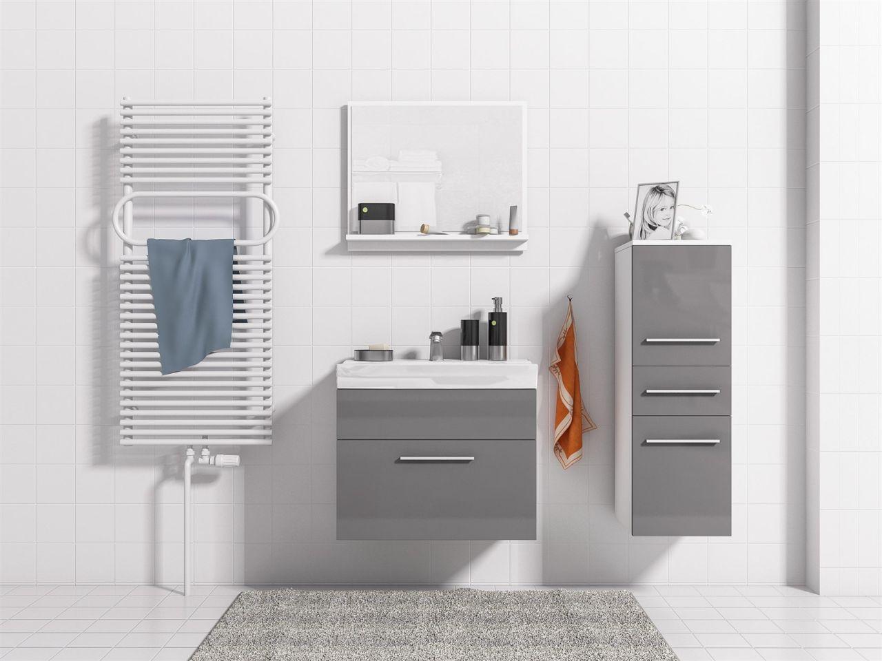 Badmöbel Set Weiß Grau