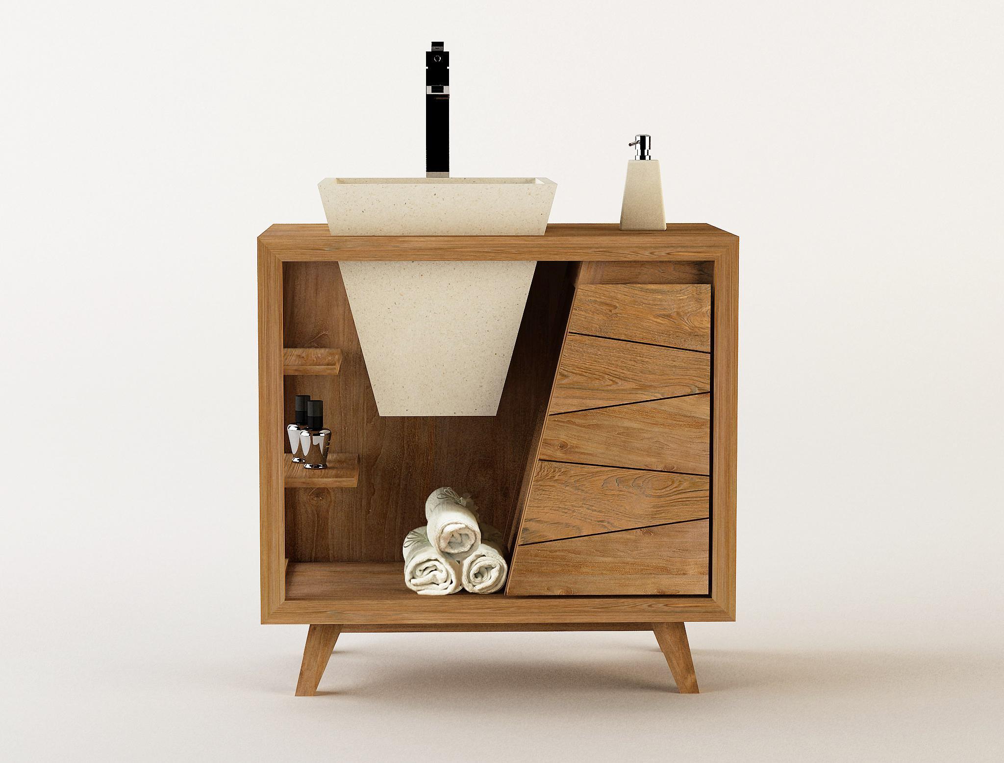 Badmöbel Waschtisch Holz