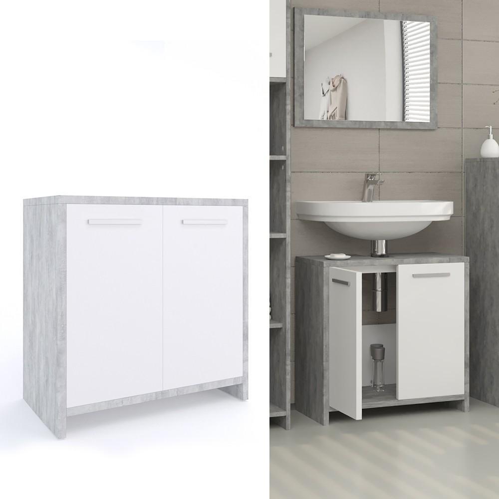 Badschrank Waschbecken Weiß