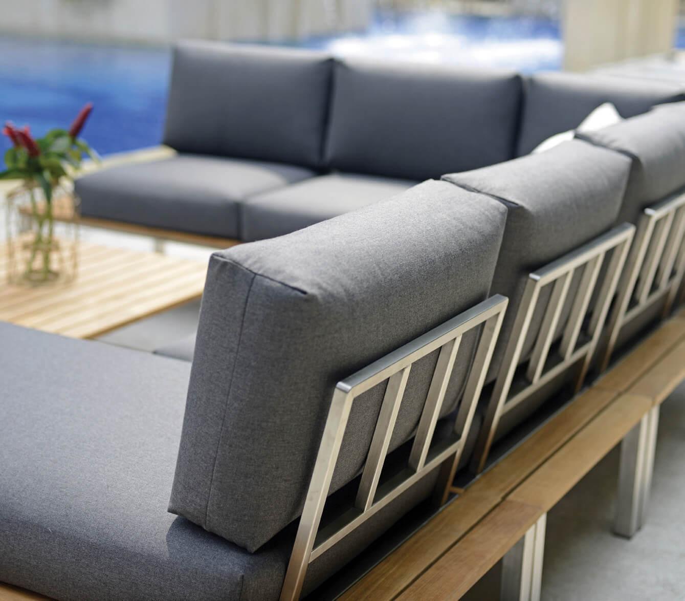 Balkonmöbel Holz Lounge