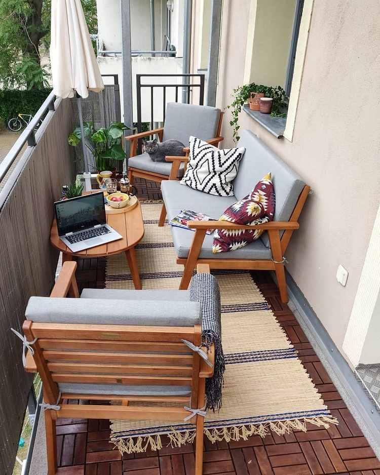 Balkonmöbel Lounge Klein