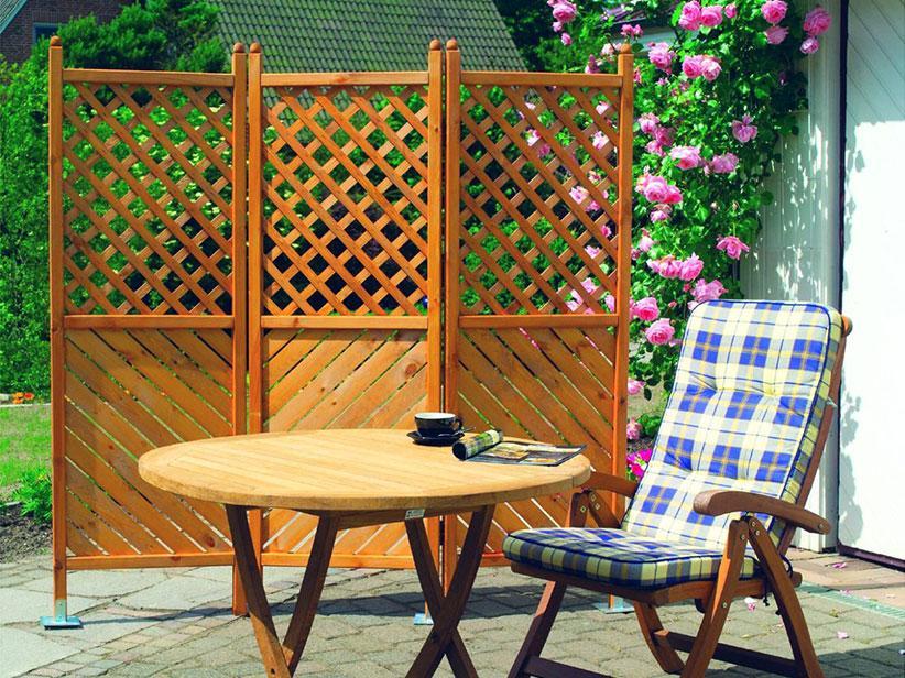 Bambus Sichtschutz Balkon Holz