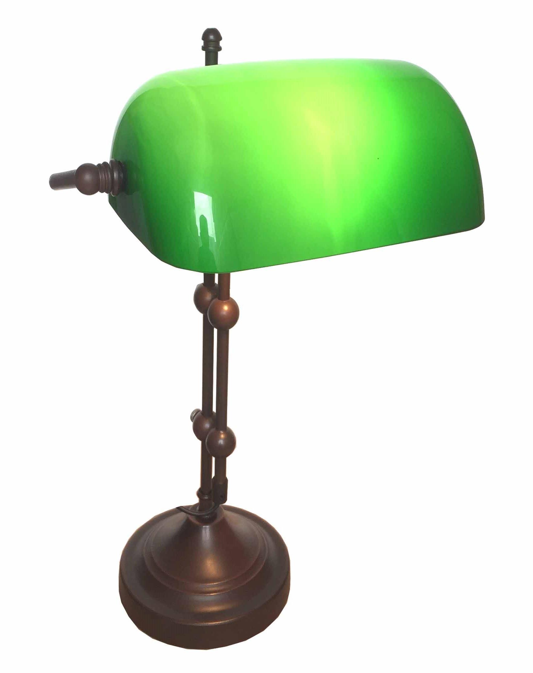 Bankerlampe Grün Antik