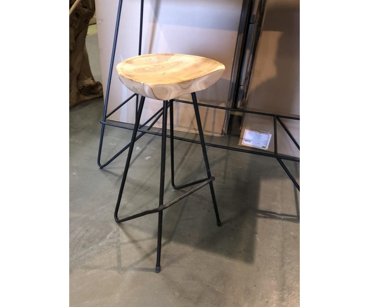 Barhocker Holz Metall