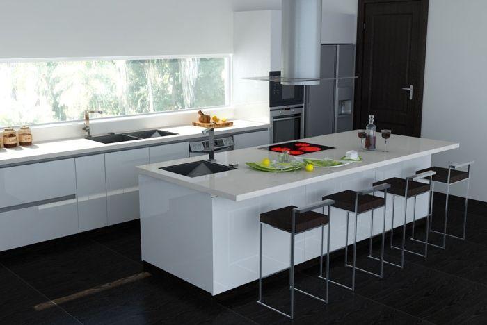 Barhocker Küche Weiß