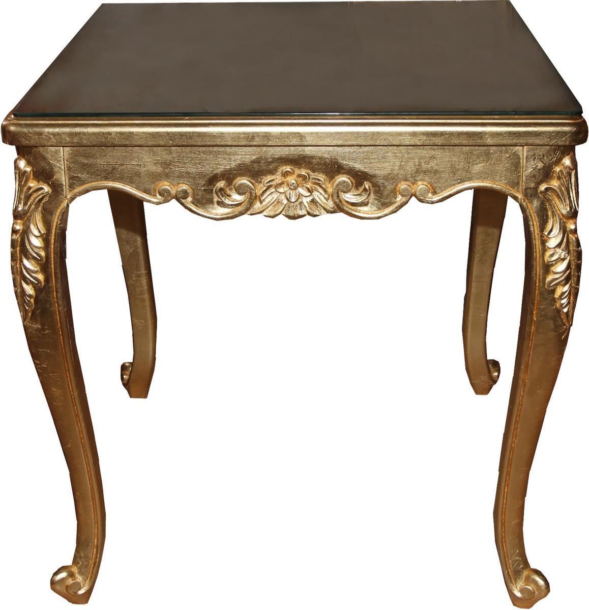 Barock Esstisch Gold