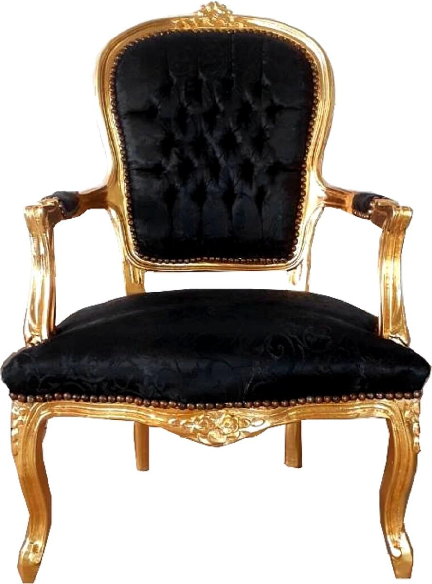 Barock Stühle Schwarz
