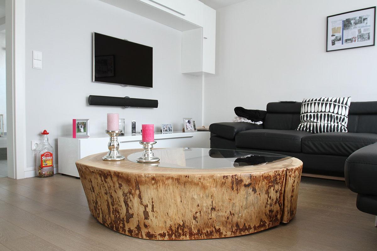 Baumstamm Tisch Couch