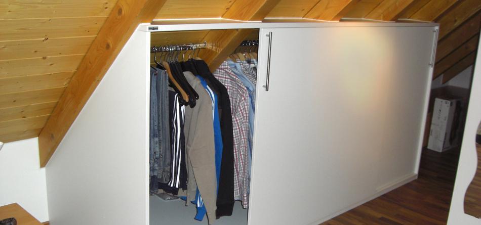 Begehbarer Kleiderschrank Dachschräge Ideen