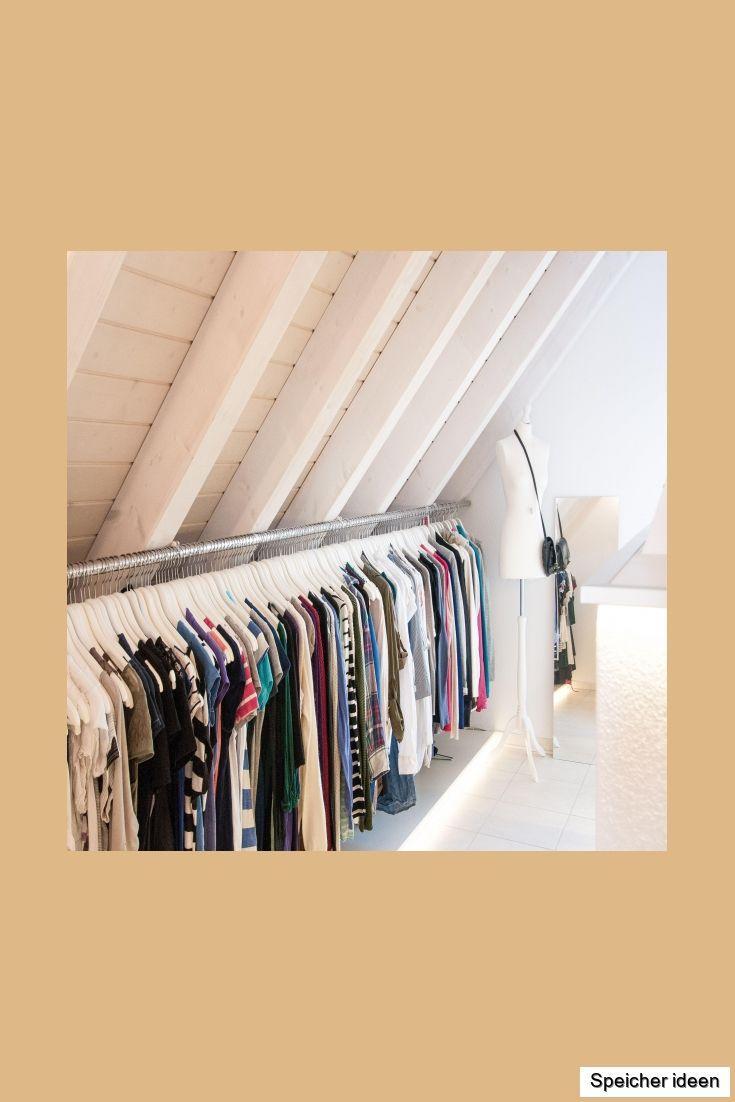 Begehbarer Kleiderschrank Dachschräge Kleiderstange
