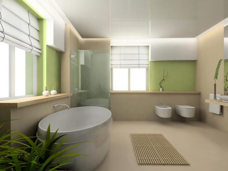 Beige Badezimmer Wandfarbe